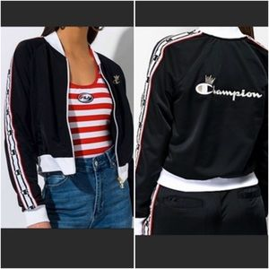 Champion Life black and white taping track jacket